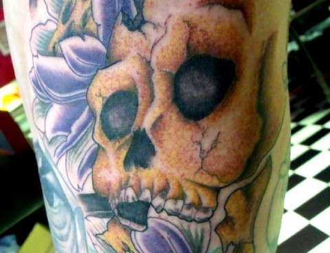 Skull and Lotus